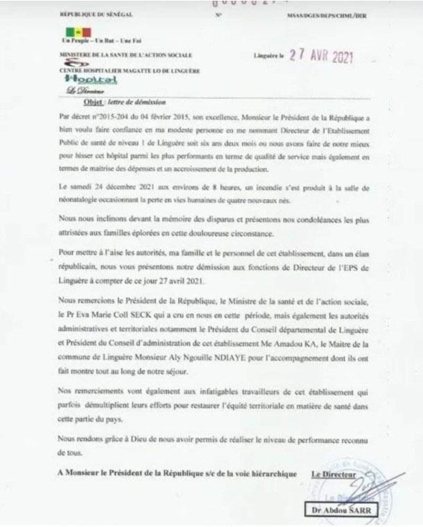 Hôpital Maguette Lô de Linguère, le directeur jette l'éponge.